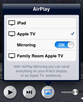 AirPlay screen